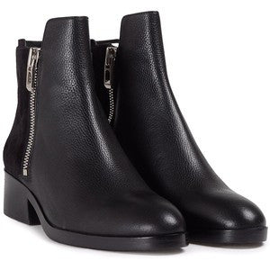 3.1 Phillip Lim Alexa Suede and Textured-Leather Ankle Boots