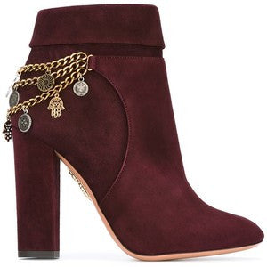Aquazzura chain detail booties
