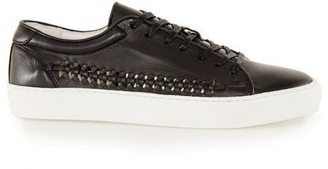 Topman Black Leather Sneakers