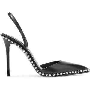 Alexander Wang Rina studded leather slingback pumps