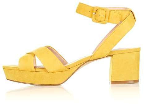 Topshop Lulu low cross strap platform sandals