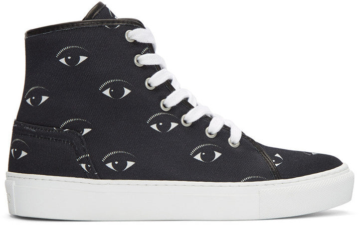 Kenzo Black Eyes High-Top Sneakers