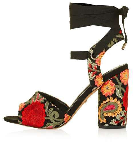 Topshop Royal embroidered sandals