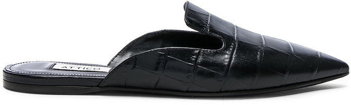 Forward By Elyse Walker ATTICO Croc Embossed Tomaia Slide Flats