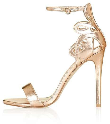 Topshop Mindy cut-out detailed two-part sandals