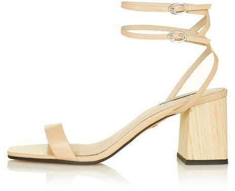 Topshop Nipper ankle wrap heeled sandal