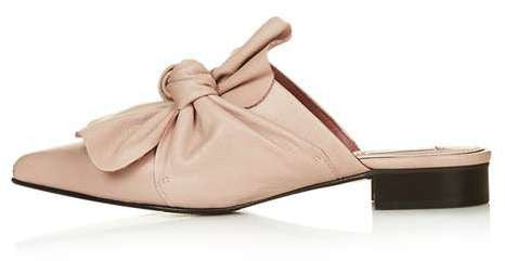 Topshop Pistachio limited edition bow mules