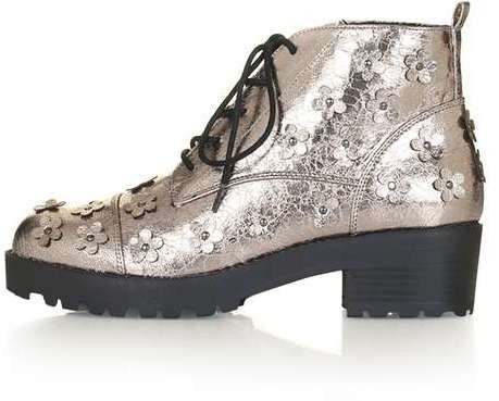 Topshop Kiwi flower boot