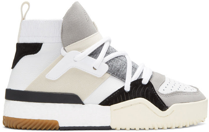 SSENSE adidas Originals by Alexander Wang White BBall High-Top Sneakers