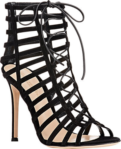 GIANVITO ROSSI Caged Lace-Up Sandals