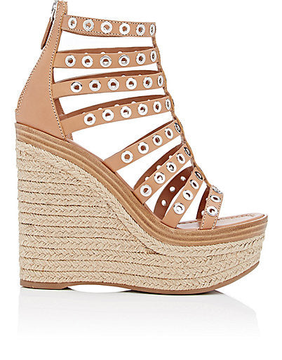 Prada Gladiator Platform Wedge Sandals