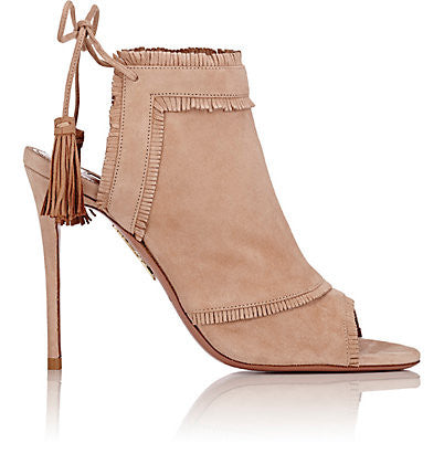 Aquazzura Colorado Back-Tie Ankle Boots