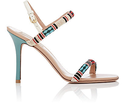 Valentino Beaded Stiletto Sandals