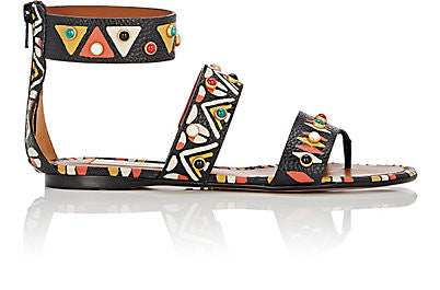 Valentino Hand-Painted Gladiator Sandals