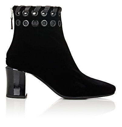 Fendi Whipstitch- & Grommet-Embellished Ankle Boots