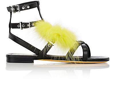 Fendi Monster-Appliqué Leather Gladiator Sandals