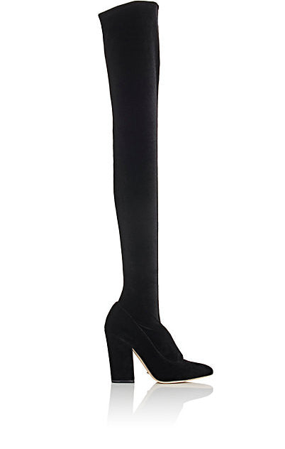 Sergio Rossi Virginia Velvet Over-The-Knee Boots