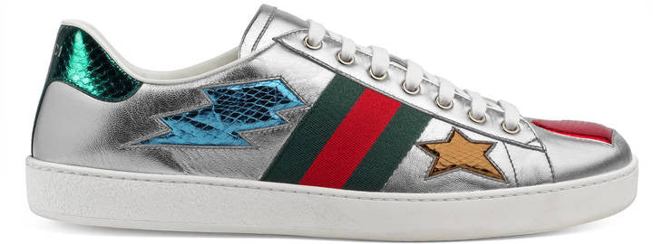 Gucci Ace low-top sneaker with ayers details