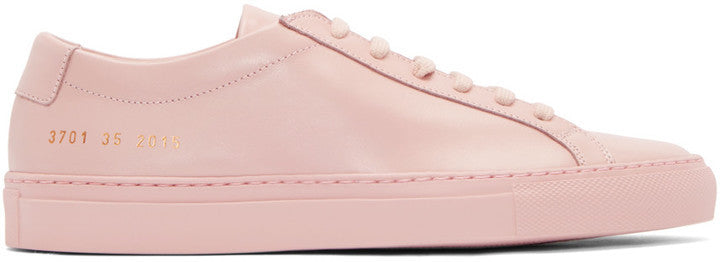SSENSE Woman by Common Projects Pink Original Achilles Sneakers