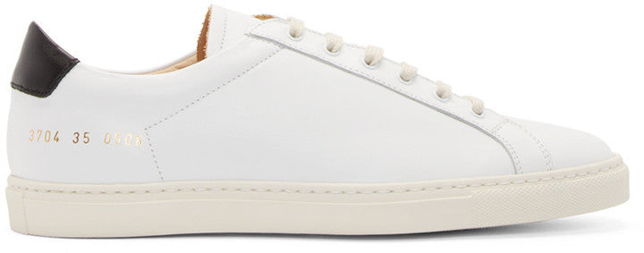 SSENSE Woman by Common Projects White Achilles Retro Low-Top Sneakers