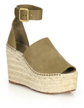 Saks Fifth Avenue Chlo Suede & Leather Espadrille Wedge Sandals