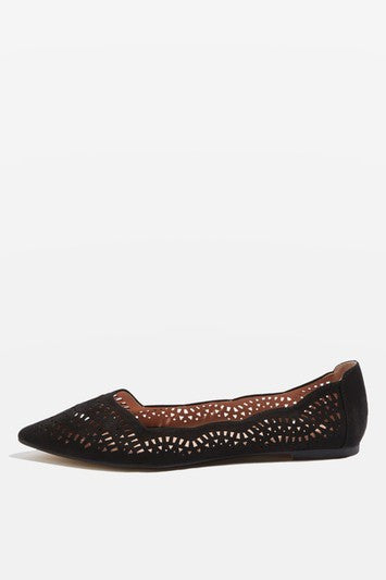 Topshop ACE Laser Cut Point Shoes