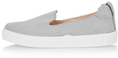 Topshop Anaconda effect slip on trainers