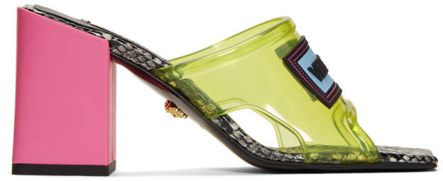 Versace Yellow PVC Heel Sandals