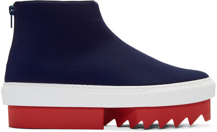 Givenchy Navy Platform High-Top Sneakers