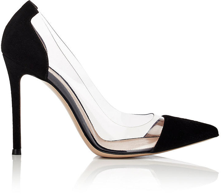 Gianvito Rossi Women's Cap-Toe Pumps-BLACK