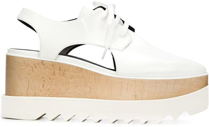 Stella McCartney 'Elyse' cut-out lace-up shoes