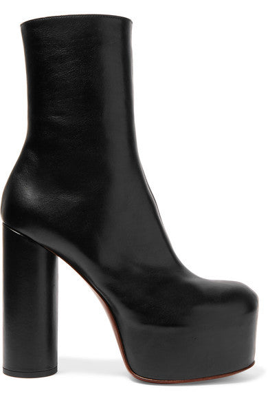 Vetements Leather platform ankle boots