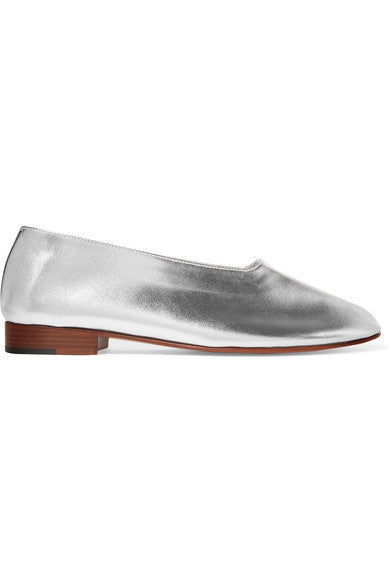 Martiniano Glove metallic leather pumps