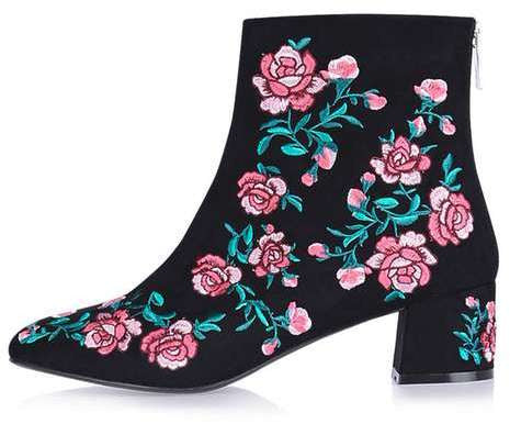 Topshop Blossom embroidery boots