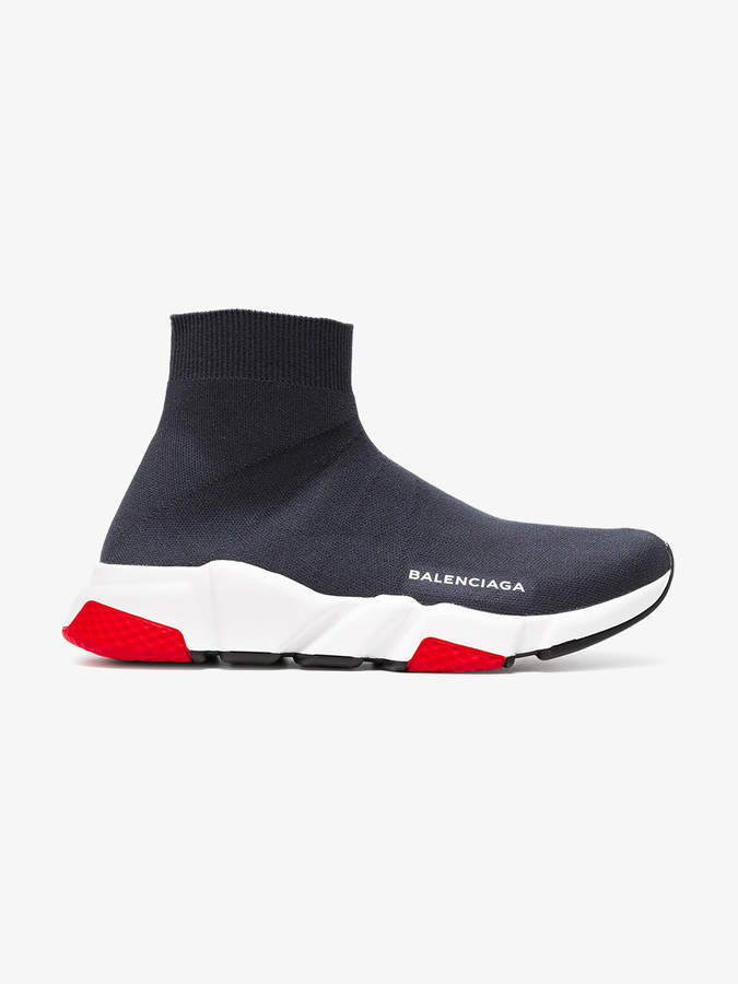 Balenciaga grey Speed Knit slip-on sneakers