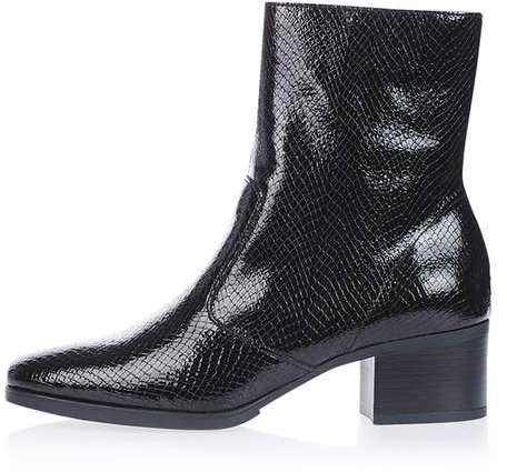Topshop Marc snake ankle boots