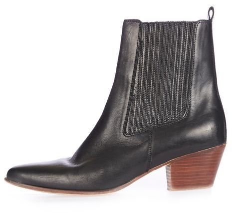 Topshop Ace western ankle boots