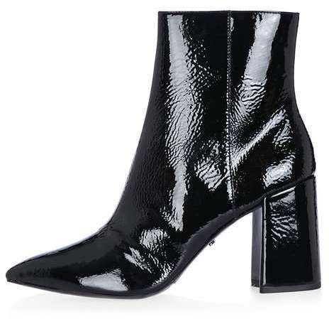Topshop Heart patent flare heel boots