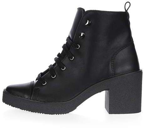 Topshop Basil lace-up ankle boots