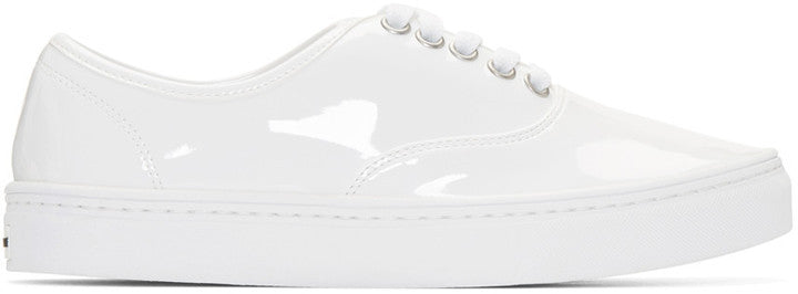 Junya Watanabe White Patent Leather Sneakers