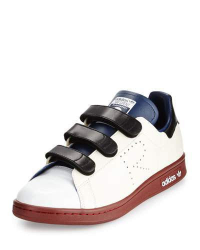 Adidas By Raf Simons Stan Smith Triple-Strap Colorblock Sneaker, Cream/Blue/Brown