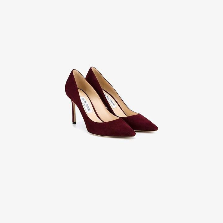 Jimmy Choo Bordeaux Romy 85 Pointed Heels