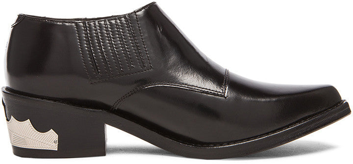 Toga Pulla Buckled Leather Ankle Booties