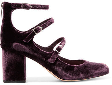 Sam Edelman Calista Velvet Pumps - Plum