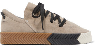 NET-A-PORTER.COM Adidas Originals By Alexander Wang - Skate Suede Sneakers - Light gray