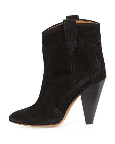 Isabel Marant Roxann Suede Western Boot, Black