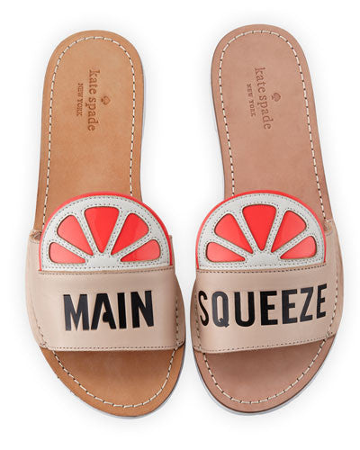kate spade new york izella main squeeze slide sandal, pale pink