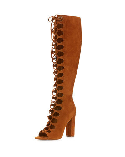 Kendall + Kylie Emma Lace-Up Gladiator Boot, Cognac