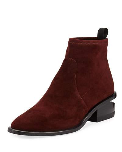 Alexander Wang Kori Stretch Suede Booties