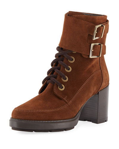 Aquatalia Irene Suede Stitched Booties